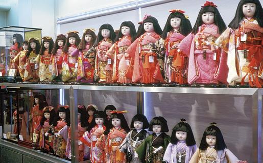 市松人形展示風景