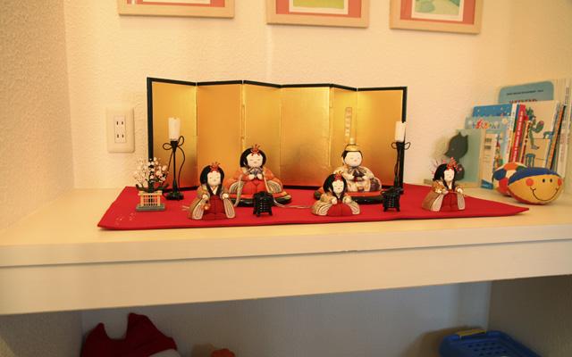 木目込人形飾り例